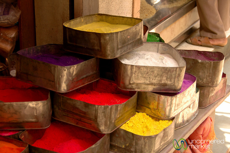 Tins of Coloring in Bikaner's Old Town - Rajasthan, India