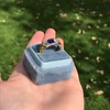 1.55ctw Old Mine Cut and Sapphire Gypsy Ring, GIA 20
