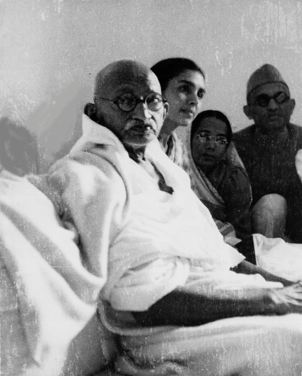 . Mahatma Gandhi is seen at Birla House, after he ended his six day fast, in New Delhi, Jan. 18, 1948. His fast lasted 122 hours and his decision to end it came after the leaders of the Muslim, Hindu and Sikh communities pledged to strive mutually for communal harmony. (AP Photo/Max Desfor)