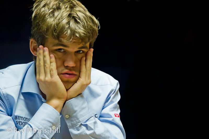 Magnus Carlsen at the start of the final round