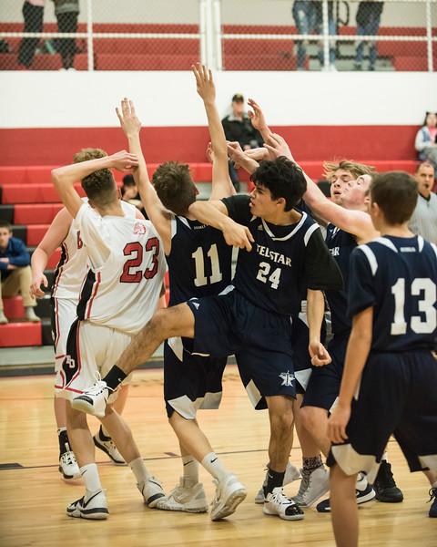 2020 JV Boys Basketball:  Hall-Dale vs Telstar