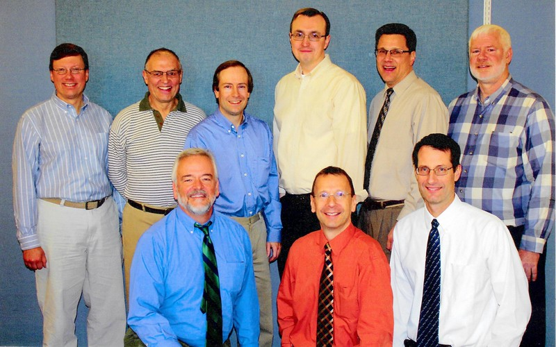 Workmates of Mark at end of career.  Laurence Keeton, Pete Vassallo, Kevin Cope, Ed Razz, Paul Symolon, Jeff Hoole, Brian Secor and Dave Hjelmar.