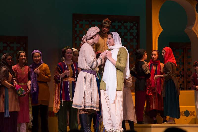 The Caliph and Marsinah -- Kismet, Montgomery Blair High School spring musical, April 15, 2016 performance (Silver Spring, MD)