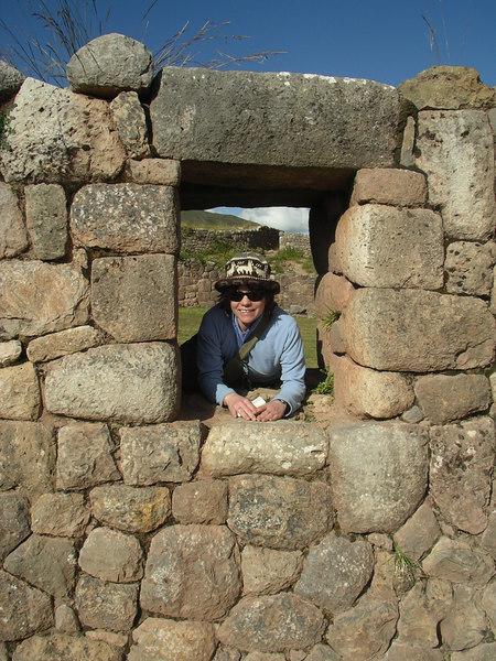Walking around the Inca site.