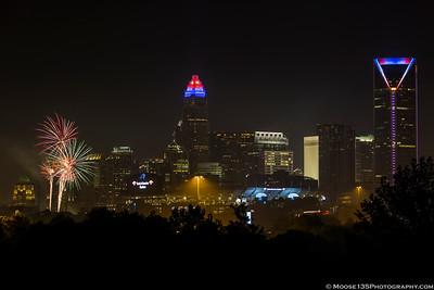 Charlotte Fireworks - July 4, 2017
