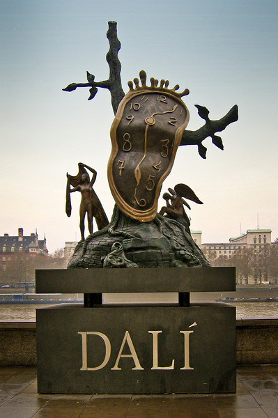 Salvadore Dali statue display along the Thames in London - 2003