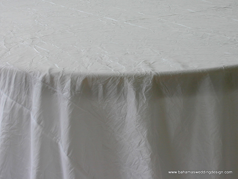 Crushed Taffeta - White
