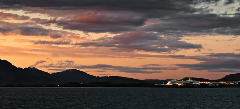 Sunset at Reykjavik