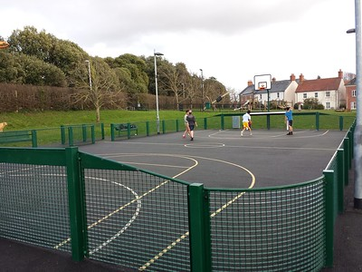 Ideas for the New school playing courts on the front lawn