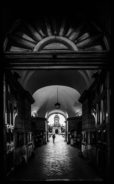 Trinity College entrance, Dublin, Ireland, 2015