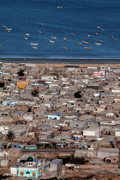 Birds eye view of Gwadar