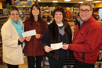 Fegley's Donation to TASI and Police Dept, Fegley's Mini Mart, Tamaqua (2-20-2013)
