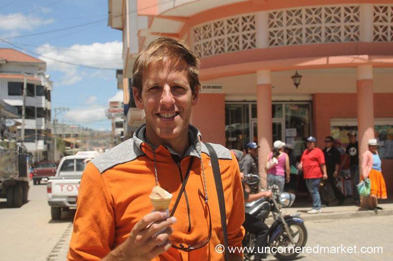 Dan and his Ice Cream - Chordeleg, Ecuador