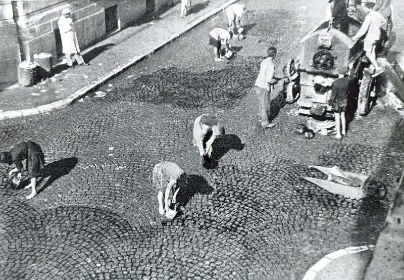 Asfaltiranje sarajevskih ulica pedesetih godina