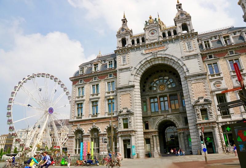 Antwerp, Belgium.  Central Train Station