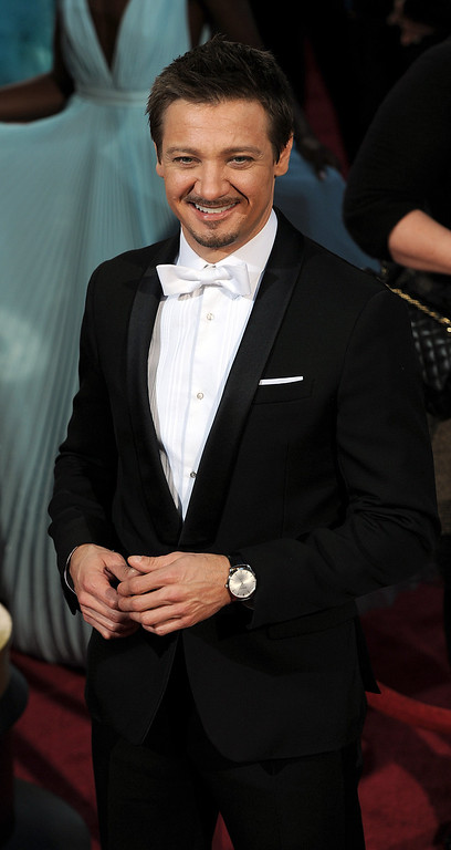 . Jeremy Renner attends the 86th Academy Awards at the Dolby Theatre in Hollywood, California on Sunday March 2, 2014 (Photo by John McCoy / Los Angeles Daily News)