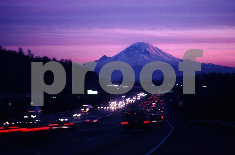 Mt. Rainier & I-5 Exit 158 dusk #88.02-1.jpg