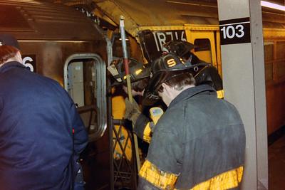 3-10-89 Subway Collison -103 st & Broadway