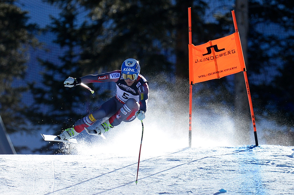 . BEAVER CREEK, CO - FEBRUARY 08: USA skier Jared Goldberg competes during the men\'s alpine combined final. FIS Alpine World Ski Championships 2015 on Sunday, February 8, 2015. (Photo by AAron Ontiveroz/The Denver Post)