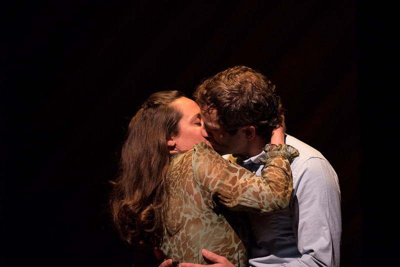 """L-R:  Blythe deOliveira Foster and Adam Elder: """"Deep Kiss"""" Anniversary! by Word for Word Photo credit: Hillary Goidell (Med Res version of photo)"""