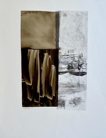 Essence 2-Mackey (MM15-39)-Mackey, painting on 22x30 paper