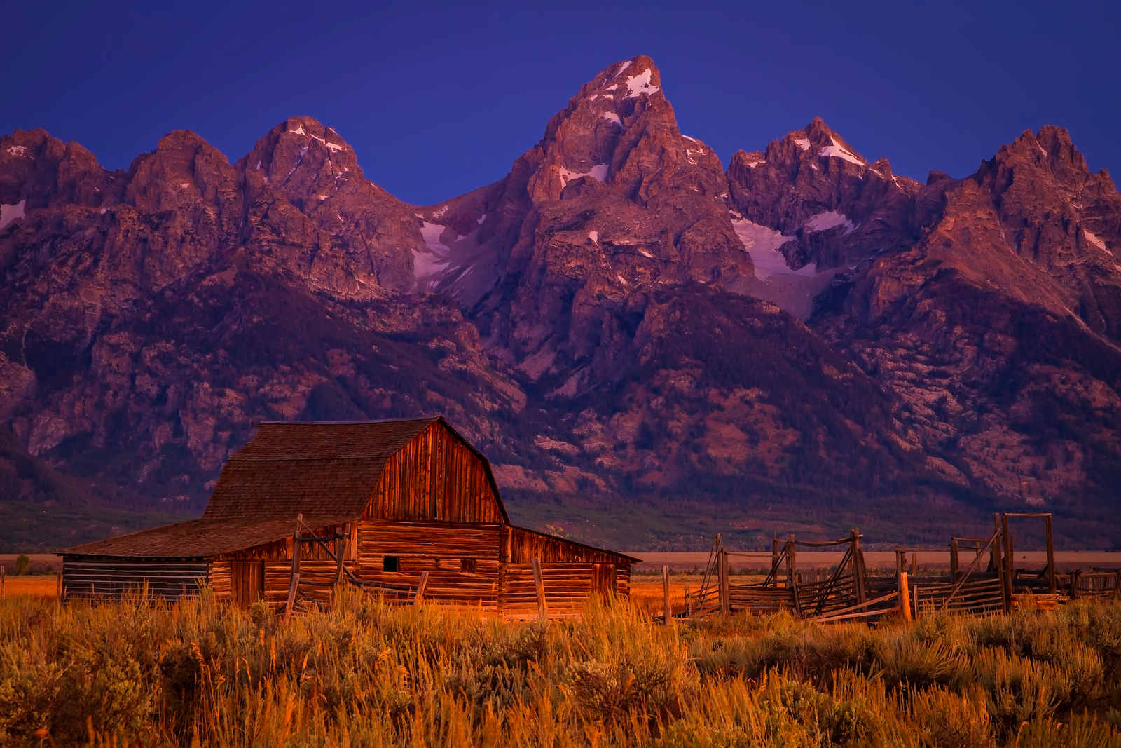 "The infamous and iconic John Moulton Barn in Mormon Row at Grand Teton National Park in Wyoming. <br /> <br /> Photo by Kyle Spradley |  <a href=""http://www.kspradleyphoto.com"">http://www.kspradleyphoto.com</a>"