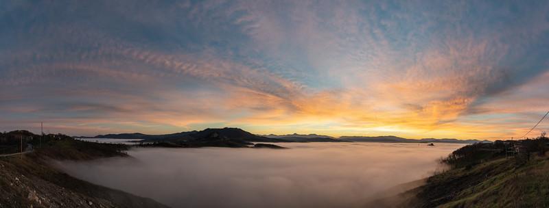 Sunset - Canossa, Reggio Emilia, Italy - December 21, 2014
