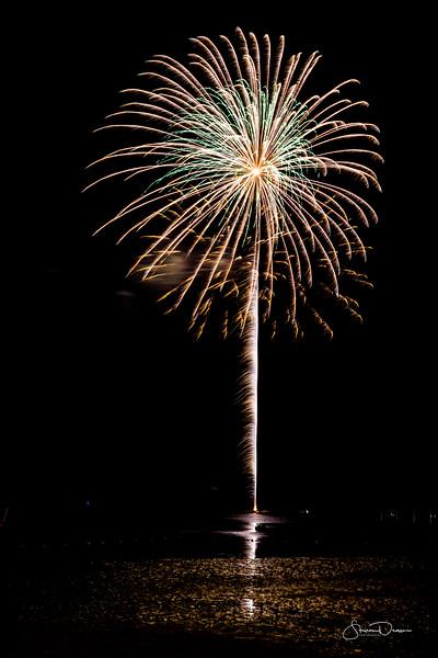Fireworks in Cedar Key Florida