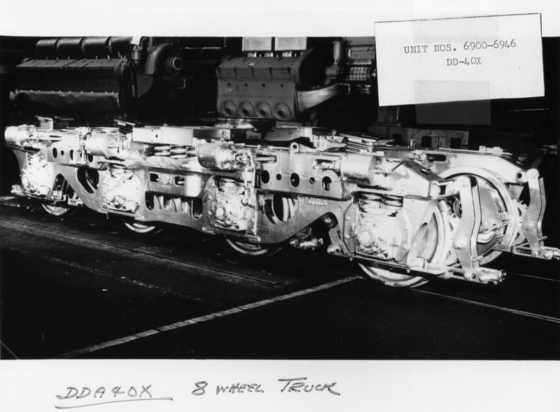EMD DDA40X truck. (UP Photo; Warren Johnson Collection)