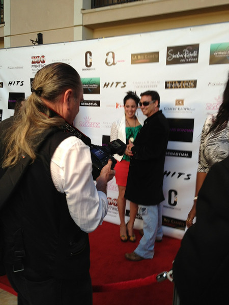 Artists, Jack Armstrong and Sona Mirzaei at the Beverly Hills Times red carpet event for the arts at the Montage Hotel in Beverly Hills, CA.