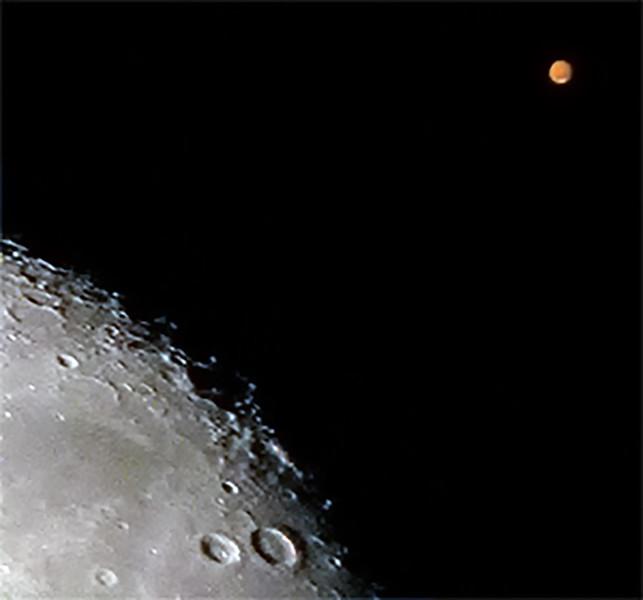 Lunar occultations of Mars