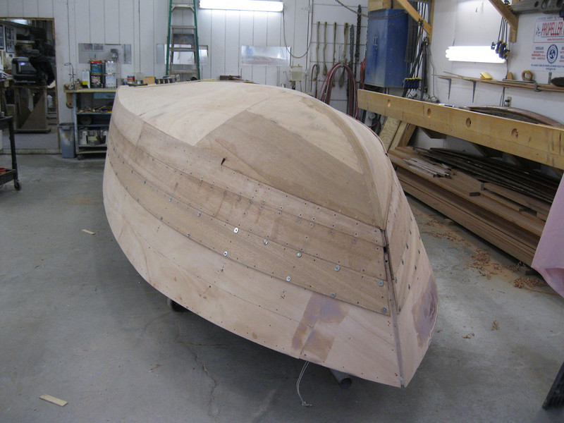 Front port view of third plank fit.