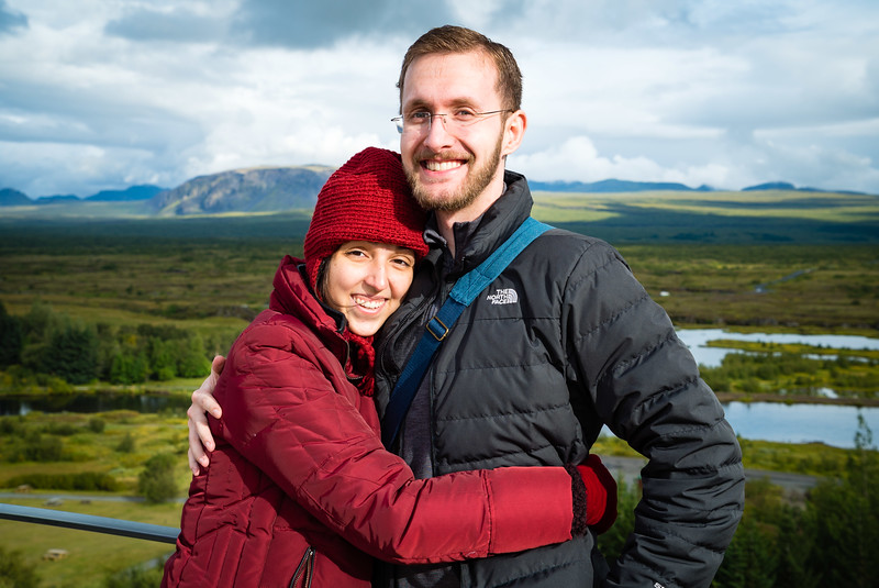 Laila and Rusty at Þingvellir