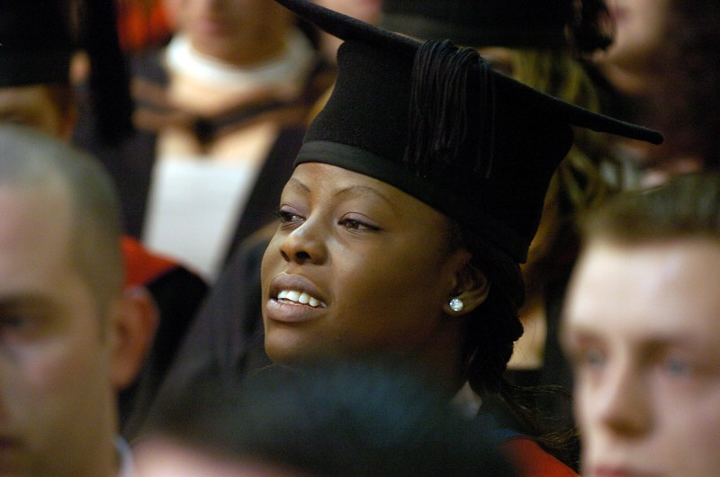 Provision 251006 A graduate pictured at the WIT Graduation ceremony yesterday (Tuesday). PIC Bernie Keating/Provision