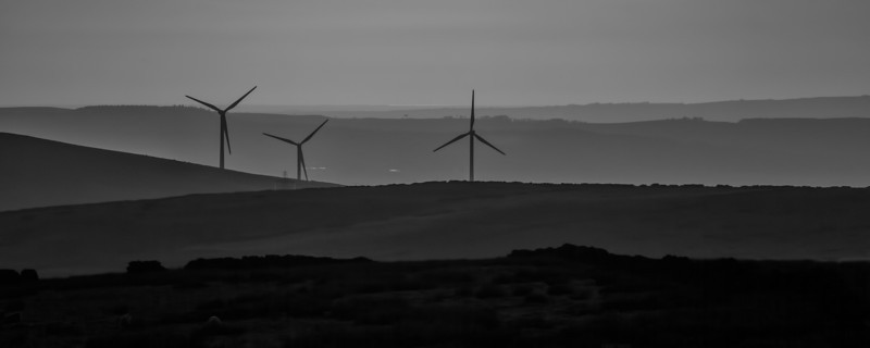 Wind Farm taken from near the 'Singing Tree' Panopticon near Burnley.