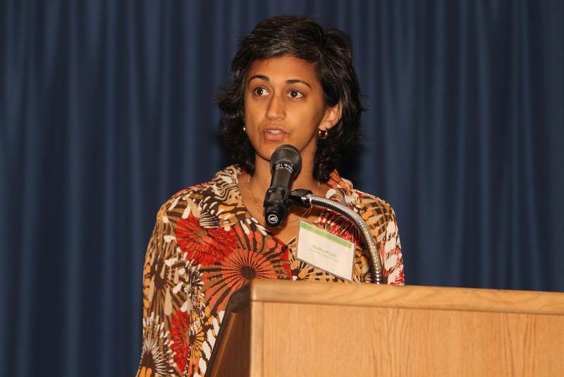 """Dr. Pyati with UNF gave part of the talk on the """"State of the River Report""""."""