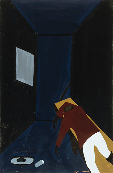 "Jacob Lawrence, ""The Life of Toussaint L'Ouverture No. 39"" (1938)"
