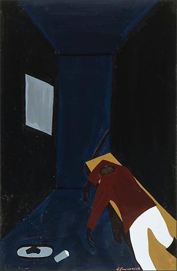 """Jacob Lawrence, """"The Life of Toussaint L'Ouverture No. 39"""" (1938)"""