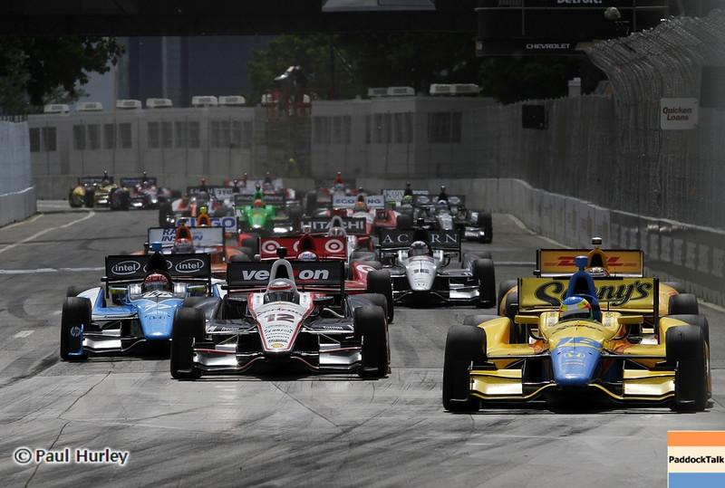 June 2: Re-start during the Chevrolet Detroit Belle Isle Grand Prix.