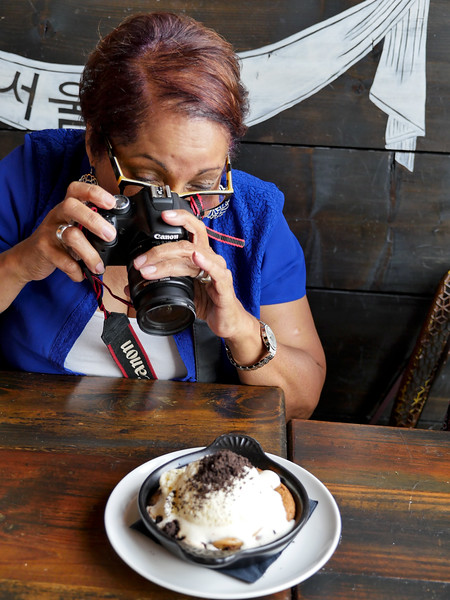 Taking pics of dessert