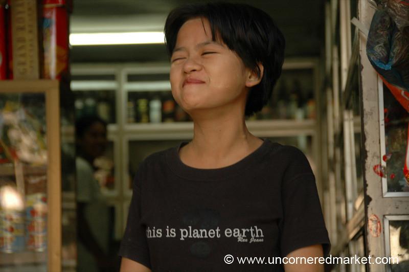 Big Burmese Laugh - Rangoon, Burma (Yangon, Myanmar)