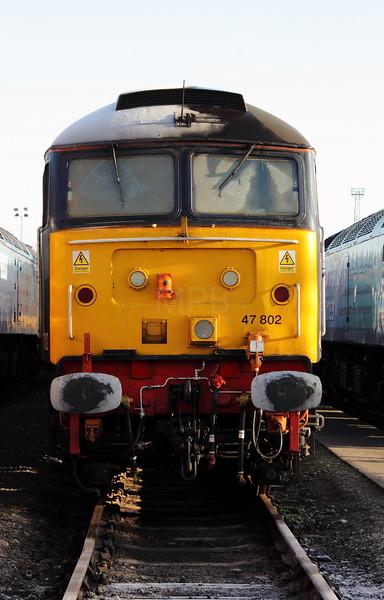 47 802 at Crewe Gresty Bridge Depot on 14th January 2012