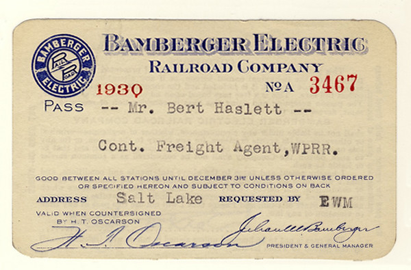 Bamberger Electric Railroad 1930