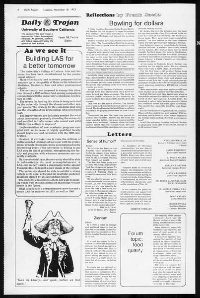 Daily Trojan, Vol. 68, No. 43, November 18, 1975