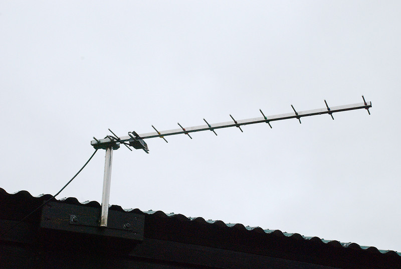 Erfitt getur verið að ná símasambandi á Hornströndum. Hér er loftnet sem hægt er að tengja við GSM sima.