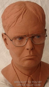 Rainn Wilson Dwight Schrute The Office sculpture