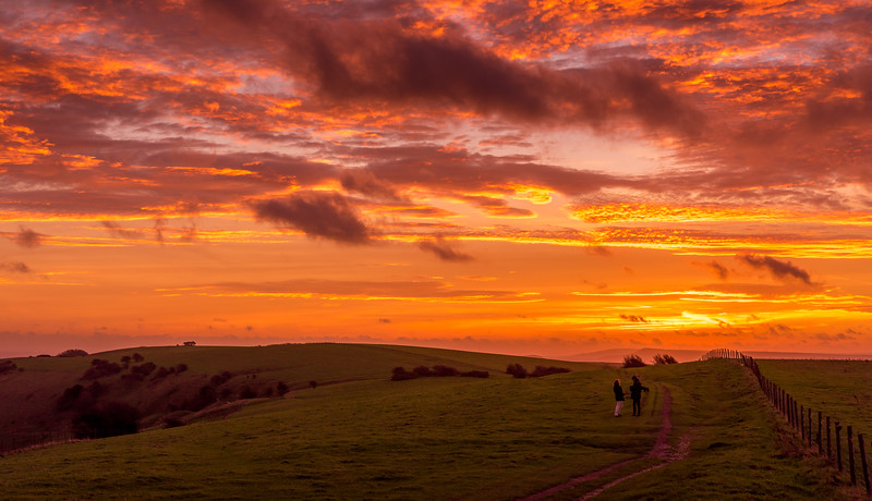 A November Dawn on the South Downs