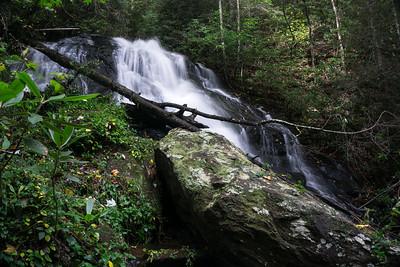 Hikes to Waterfalls below Dockery Lake and to Dicks Creek
