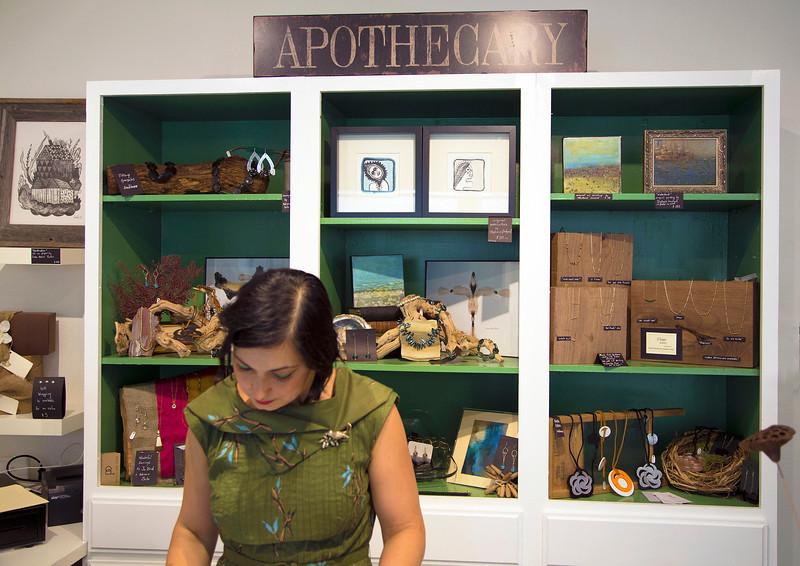 Stephanie prepares to receive customers