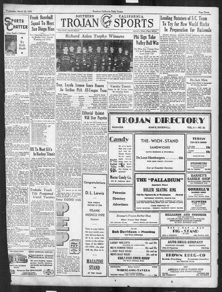 Daily Trojan, Vol. 26, No. 99, March 20, 1935